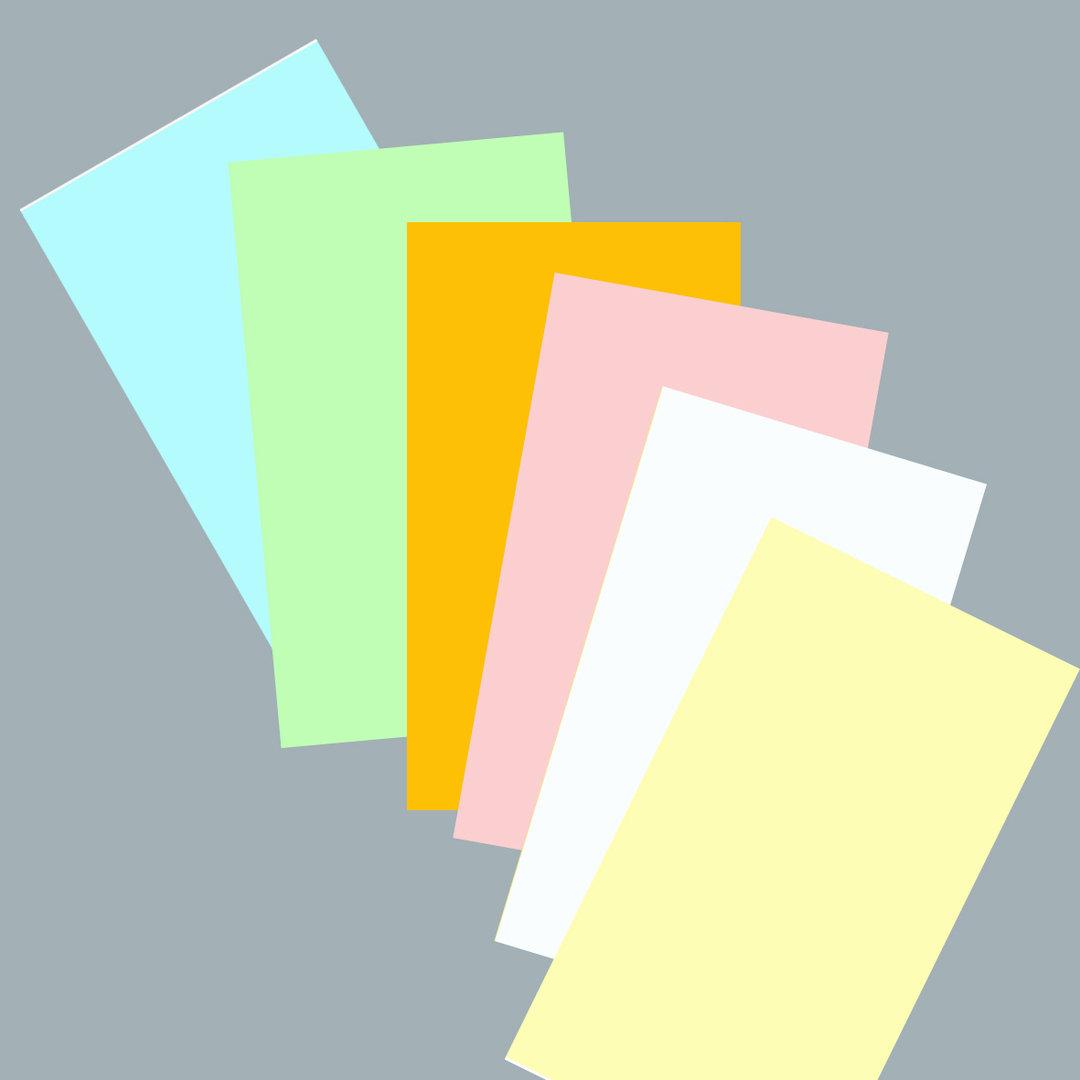 Helle Farben. Rechteck Karten Bunt Helle Farben 500 Blatt