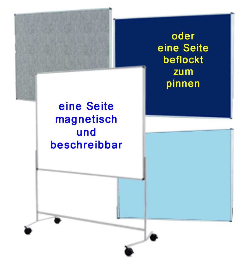 Whiteboard-Pinnwand_multitalent mit Beflockung